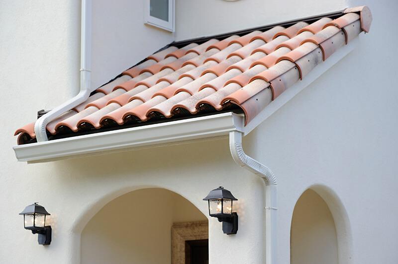 可愛いデザインの瓦屋根