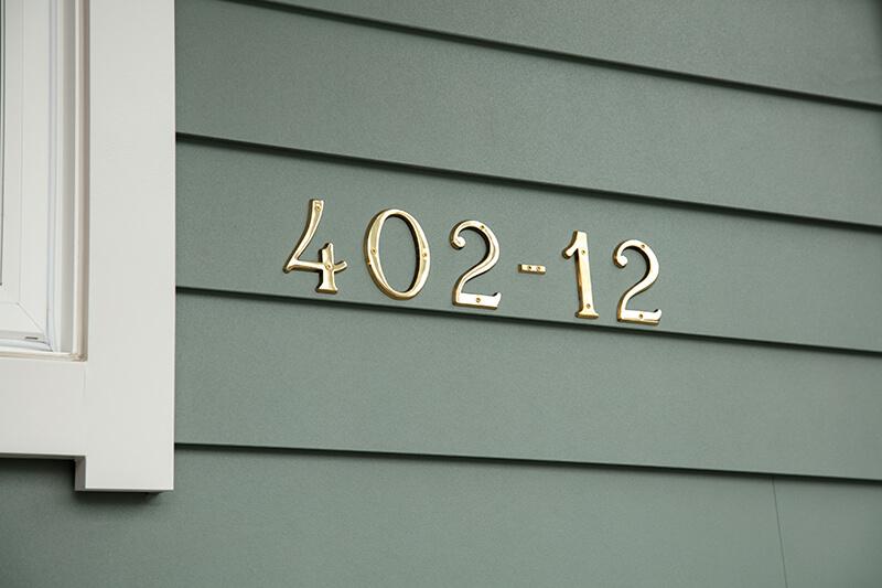 ゴールドプレートの住居表示