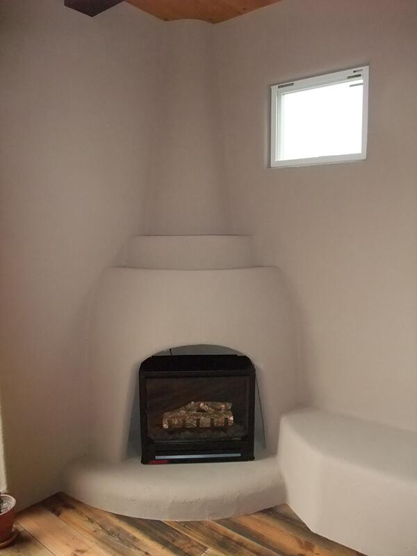 暖かみのある手づくり暖炉